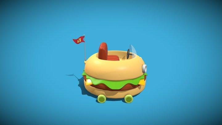 Krabby Patty Wagon 3D Model