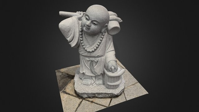 Monk Statue (Kek Lok Si Buddhist Temple, Penang) 3D Model
