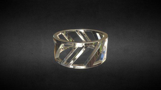 Stripes Ring 3D Model