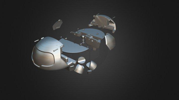 Drone Freezer Mei Owerwatch + Anim 3D Model
