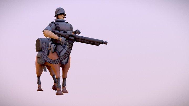 Centaur Soldier 3D Model