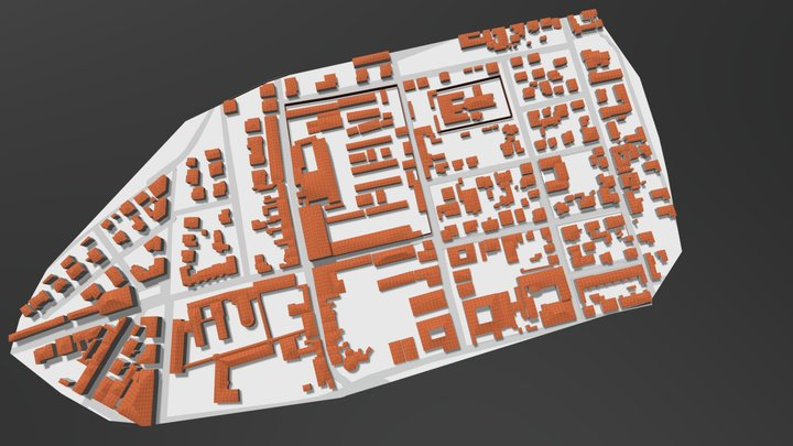 Italian historical centre's model 3D Model