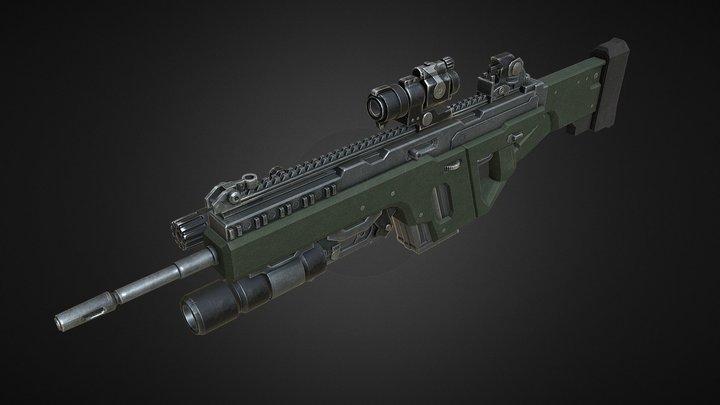 Assault Rifle Art Test 3D Model