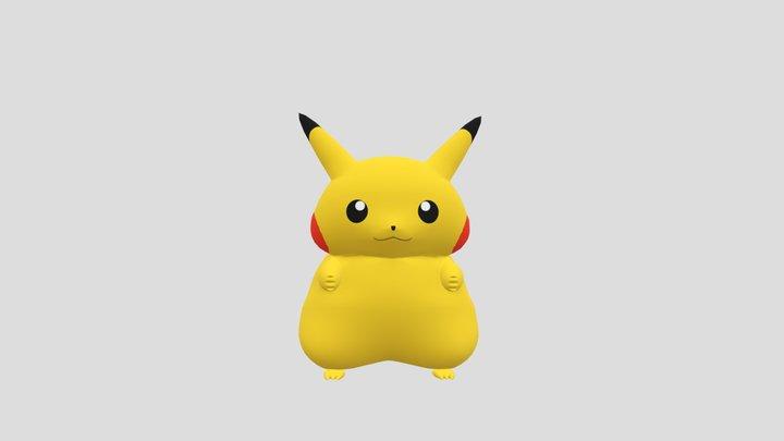 Fat Pikachu 3D Model