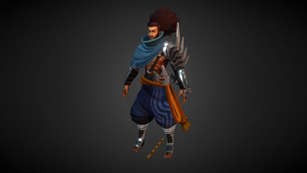 Lol Yasuo 4k Texture 3d Model By Cjxander Cjxander