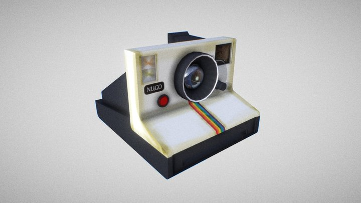 Retro Polaroid Camera 3D Model