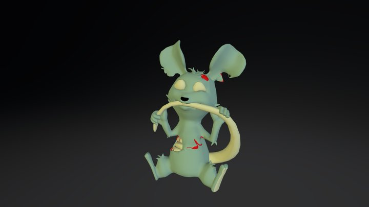 Zombie- Mouse Original V001 3D Model
