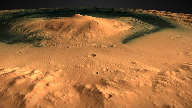 Gale Crater 3D Model