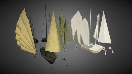 Resdayn Ship Exterior Tileset [Mesh+Collision] 3D Model