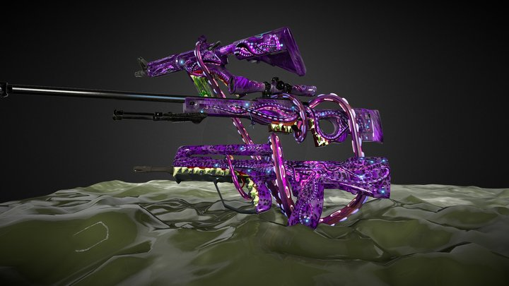 Tentacles Collection 3D Model