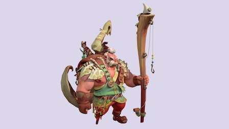 Barbarian Fisherman Garp 3D Model