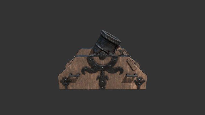 Bombard Mortar 3D Model