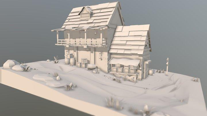 Medieval House Scene MODELING 00.5 3D Model