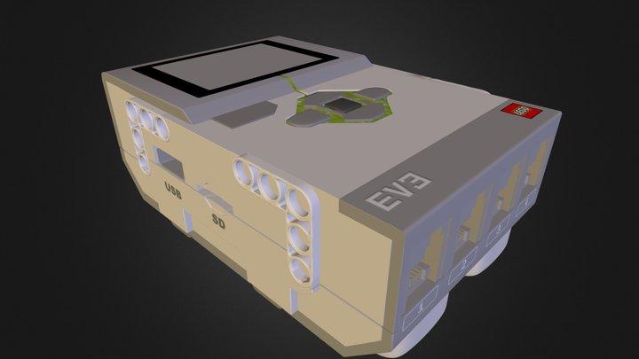 LEGO Mindstorm EV3 Main Computer Unit 3D Model