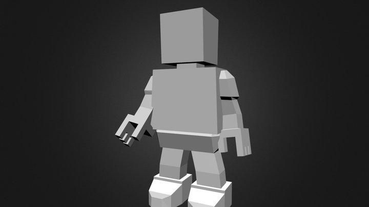 Blockhead 3D Model