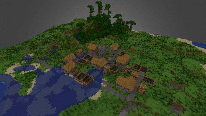 minecraft village 3D Model