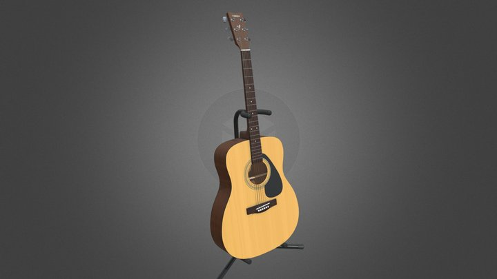 Yamaha F310 Acoustic Guitar Highpoly 3D Model