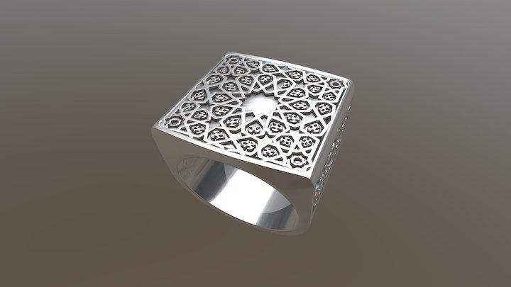 Men's ring truth - Arabic pattern 3D Model