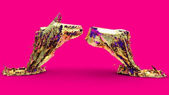 gold cast #RTJ4D 3D Model