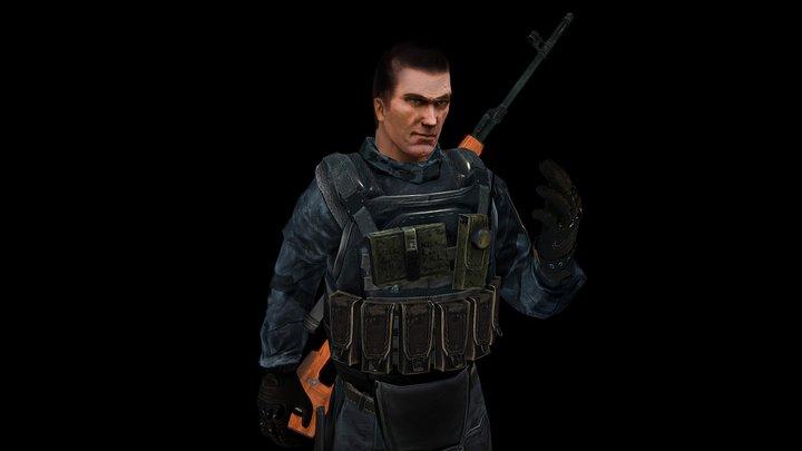 Sniper_Char_1 3D Model