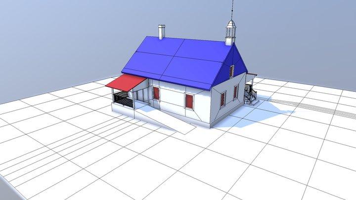 Log Church 3D Model