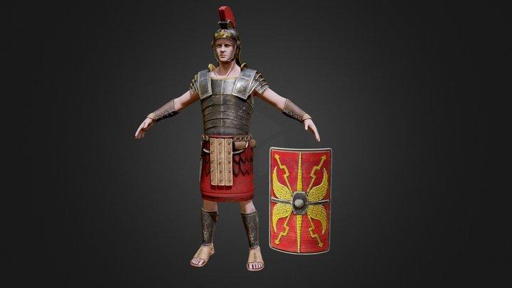 Roman Warrior 3D Model