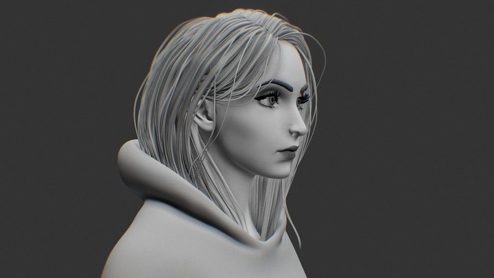 Sculpt girl 3D Model