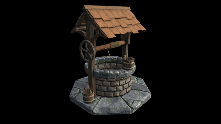 Medieval Well 3D Model