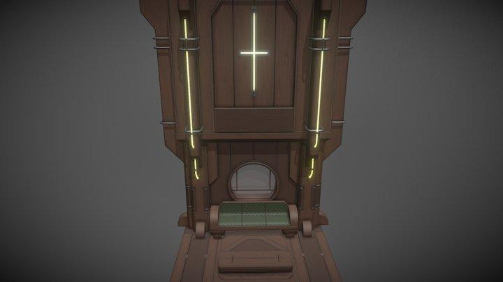 Wooden Sci-Fi Environment Modular Kit №2. 3D Model