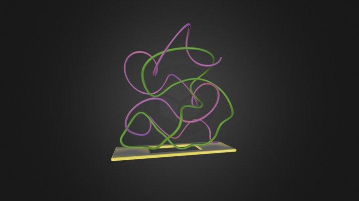 Snakes in love 3D Model