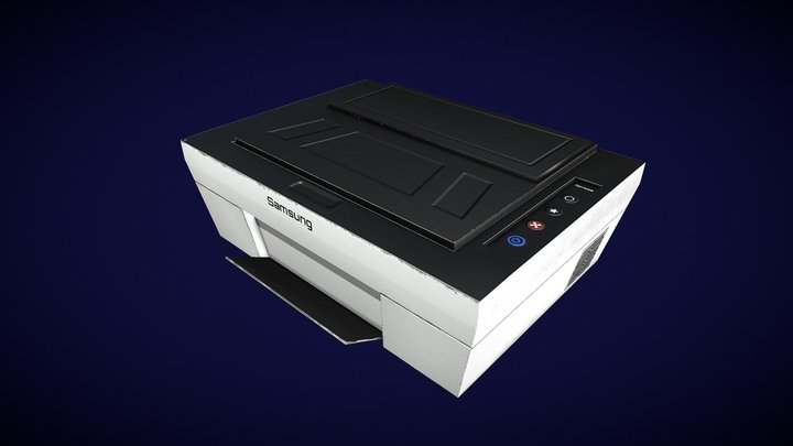 Printer- Low Poly 3D Model