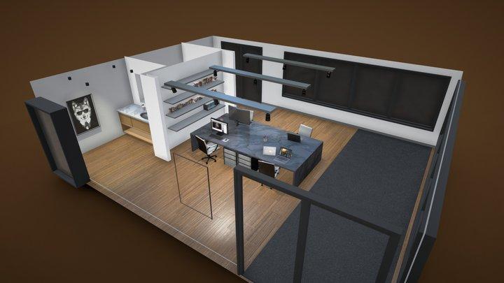 Studio Office Interior 3D Model