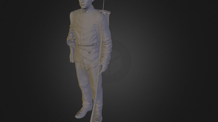 Civil War Poser 3D Model