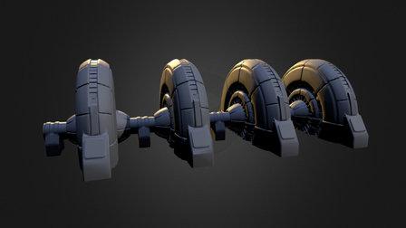 Shield Generator 3D Model