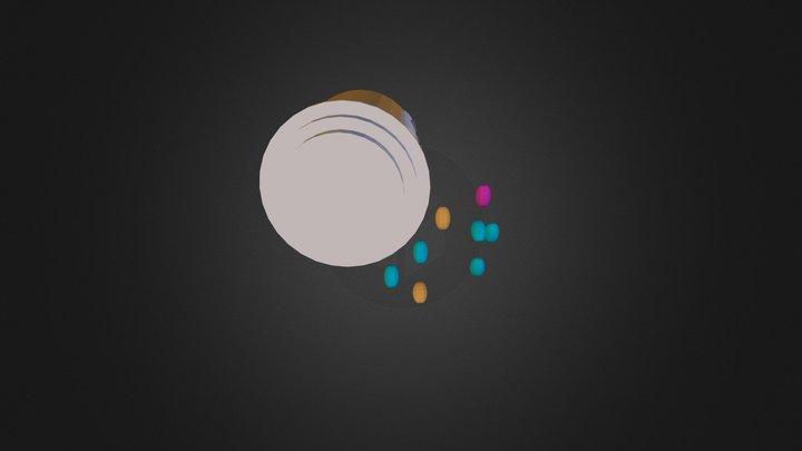 Pill Bottle (1) 3D Model