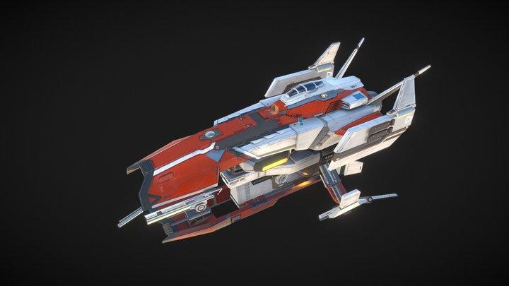 "Frontier starship ""Vulture"" 3D Model"