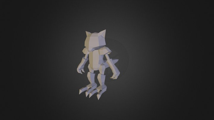 Abra Pixelmon 3D Model
