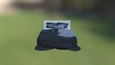Realistic 3D Bed 3D Model