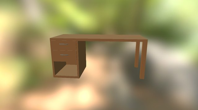 Teacher Table 3D Model