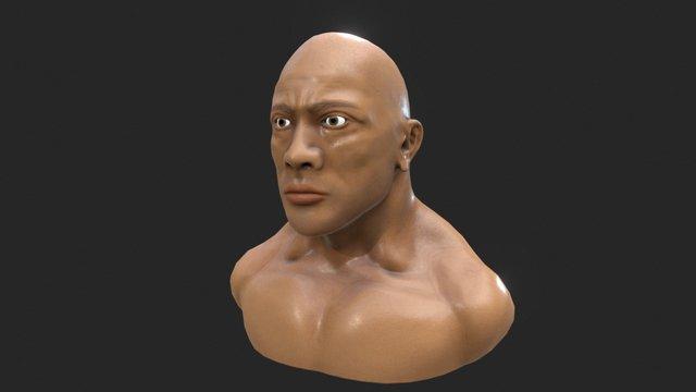 The Rock First Head model 3D Model
