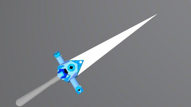 Styled Sword 3D Model