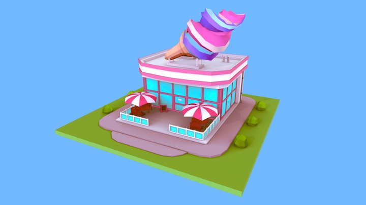 Ice Cream Shop 3D Model