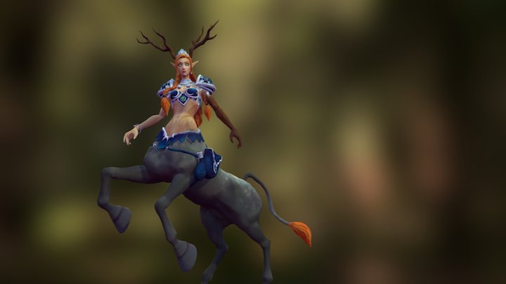 Briannon - Centaur Druid 3D Model