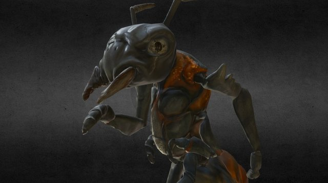 Ant Character (Run Cycle) 3D Model