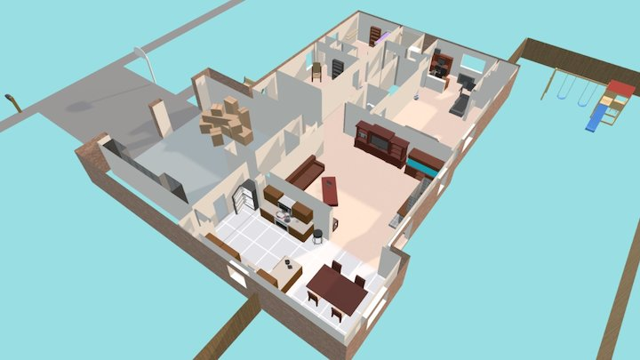 """Her Story"" House 3D Model"