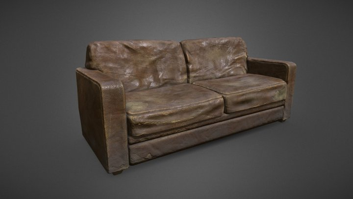 Couch Old 3D Model