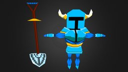 Shovel Knight Low Poly 3D Model