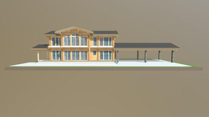 Гостевой дом в п.Лисий нос (Д.088.001 в.2) 3D Model