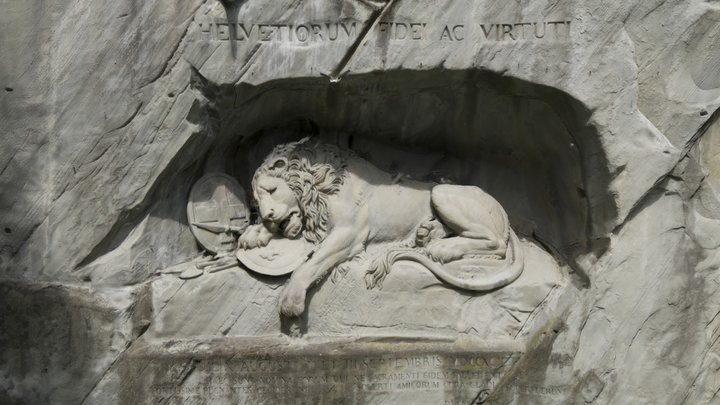 Lion Monument Lucerne 3D/Löwendenkmal Luzern 3D 3D Model