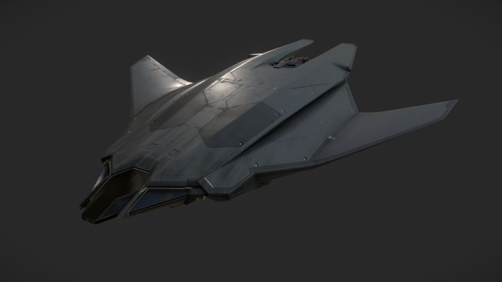 scifi ship 3D Model